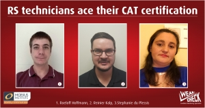 RS technicians ace their CAT certification